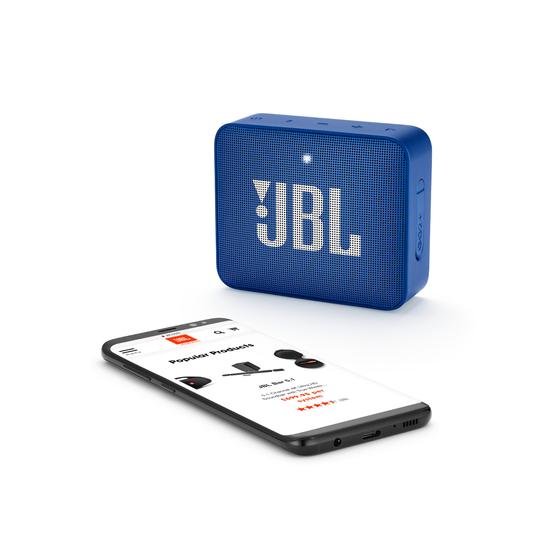 JBL GO2+ - Blue - Portable Bluetooth speaker - Detailshot 2
