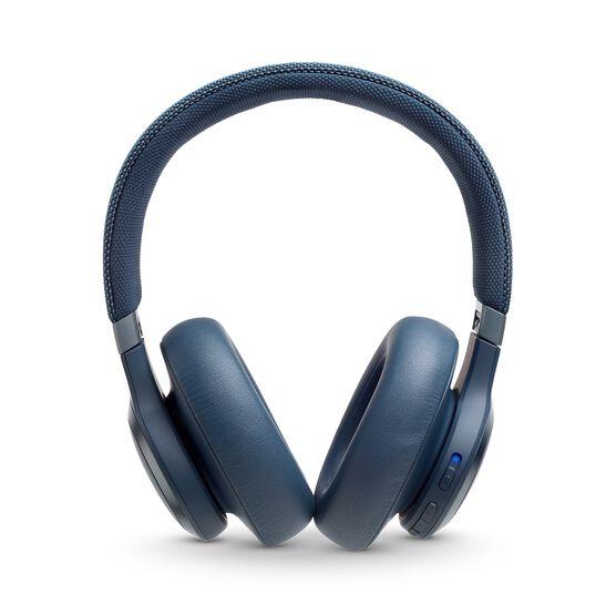 JBL LIVE 650BTNC - Blue - Wireless Over-Ear Noise-Cancelling Headphones - Front
