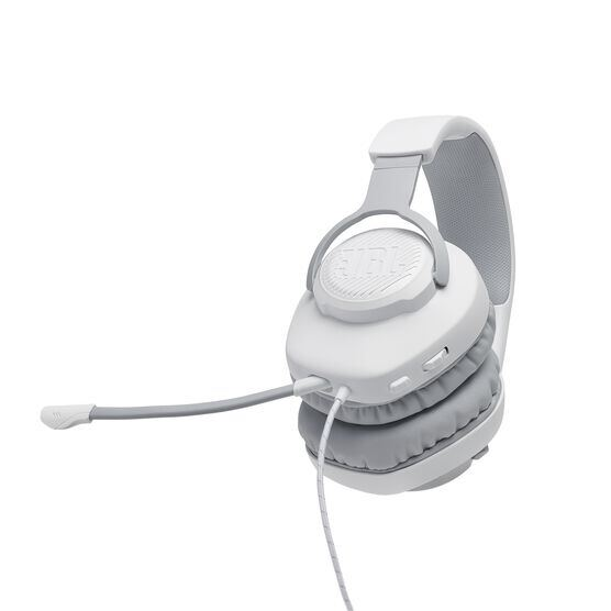 JBL Quantum 100 - White - Wired over-ear gaming headset with a detachable mic - Detailshot 4