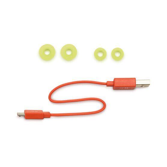 JBL Endurance RUNBT - Green - Sweatproof Wireless In-Ear Sport Headphones - Detailshot 4