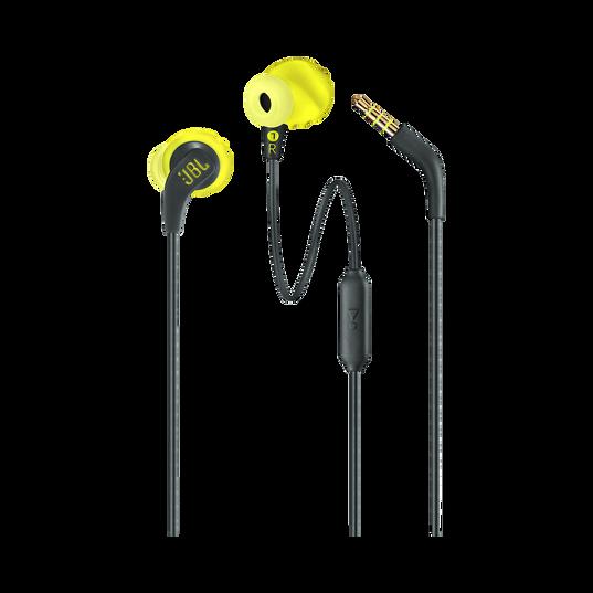 JBL Endurance RUN - Yellow - Sweatproof Wired Sport In-Ear Headphones - Detailshot 1