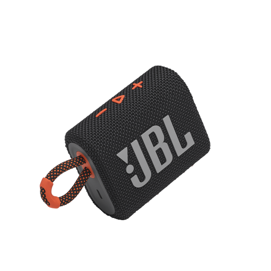 JBL GO 3 - Black / Orange - Portable Waterproof Speaker - Detailshot 1