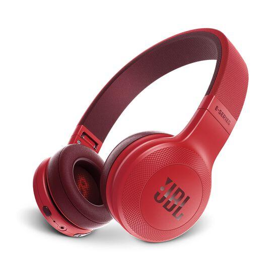 JBL E45BT - Red - Wireless on-ear headphones - Hero