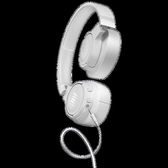 JBL TUNE 750BTNC - White - Wireless Over-Ear ANC Headphones - Detailshot 7