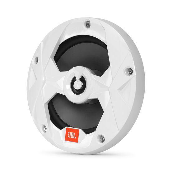 """Club Marine MS65LW - White Gloss - 6-1/2"""" (160mm) two-way marine audio speaker with RGB lighting – White - Hero"""