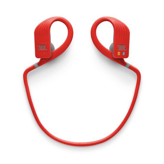 JBL Endurance DIVE - Red - Waterproof Wireless In-Ear Sport Headphones with MP3 Player - Detailshot 3