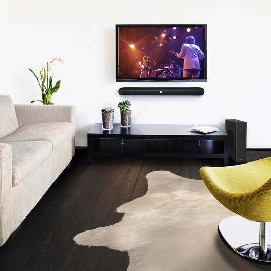 Cinema SB150 - Black - Home cinema 2.1 soundbar with compact wireless subwoofer - Detailshot 10