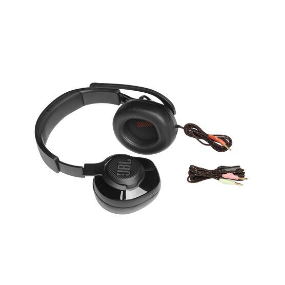 JBL Quantum 200 - Black - Wired over-ear gaming headset with flip-up mic - Detailshot 7