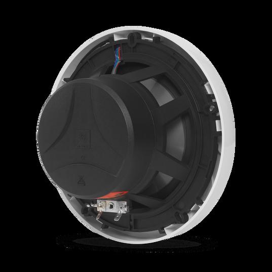 "Club Marine MS65LW - White Gloss - 6-1/2"" (160mm) two-way marine audio speaker with RGB lighting – White - Detailshot 1"