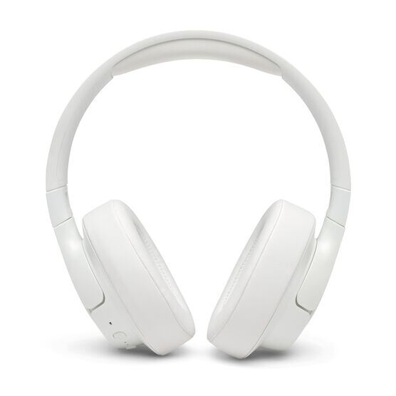 JBL TUNE 750BTNC - White - Wireless Over-Ear ANC Headphones - Front
