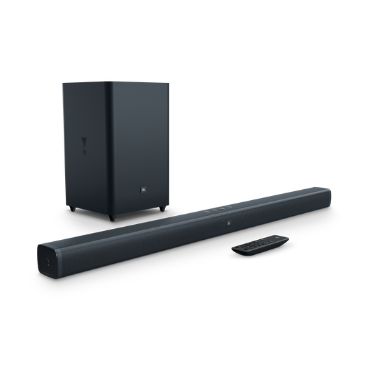 JBL Bar 2.1 - Black - 2.1-Channel Soundbar with Wireless Subwoofer - Hero