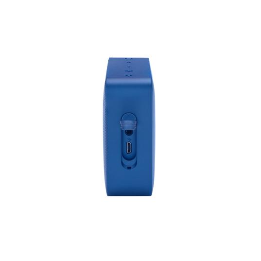 JBL GO2+ - Blue - Portable Bluetooth speaker - Left