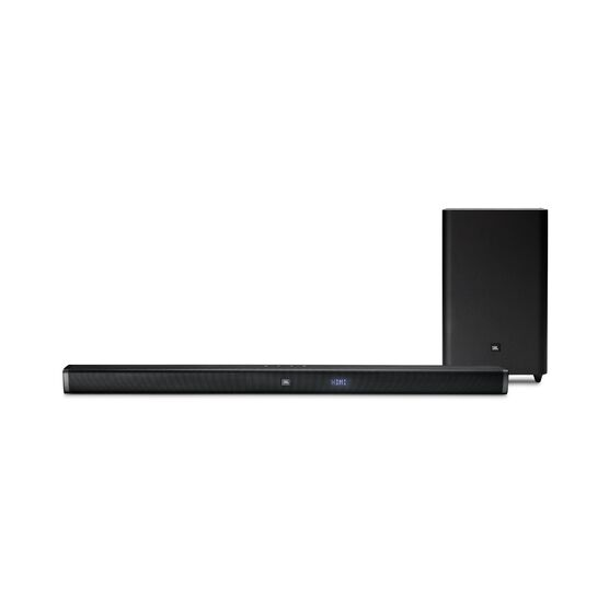 JBL Bar 2.1 - Black - 2.1-Channel Soundbar with Wireless Subwoofer - Front