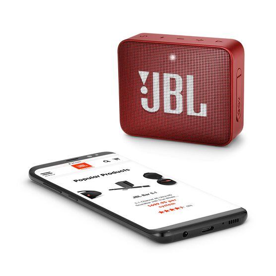 JBL GO 2 - Ruby Red - Portable Bluetooth speaker - Detailshot 3