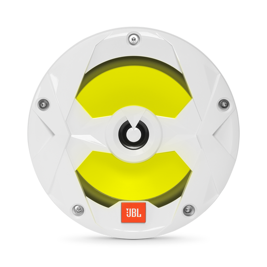 "Club Marine MS65LW - White Gloss - 6-1/2"" (160mm) two-way marine audio speaker with RGB lighting – White - Detailshot 3"