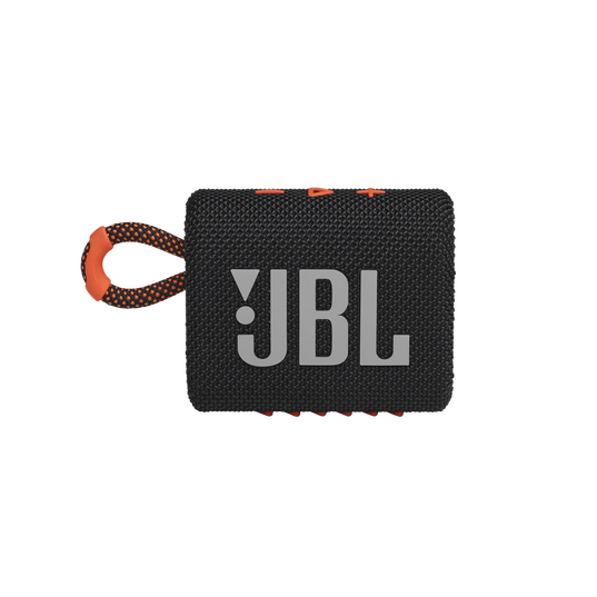 JBL GO 3 - Black / Orange - Portable Waterproof Speaker - Front