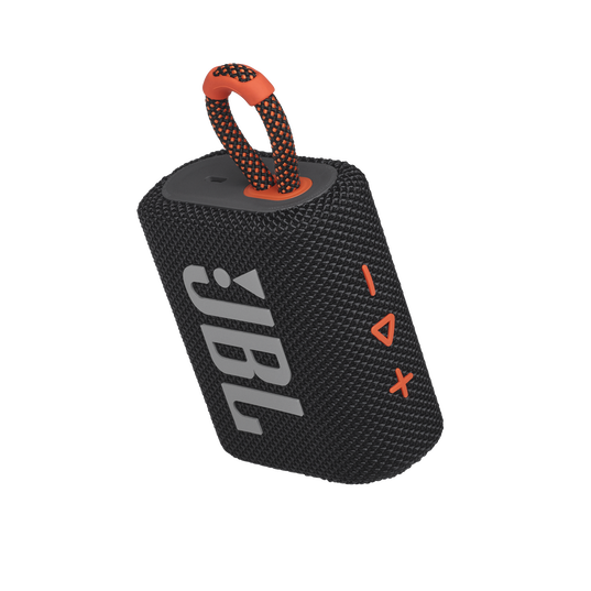 JBL GO 3 - Black / Orange - Portable Waterproof Speaker - Detailshot 2