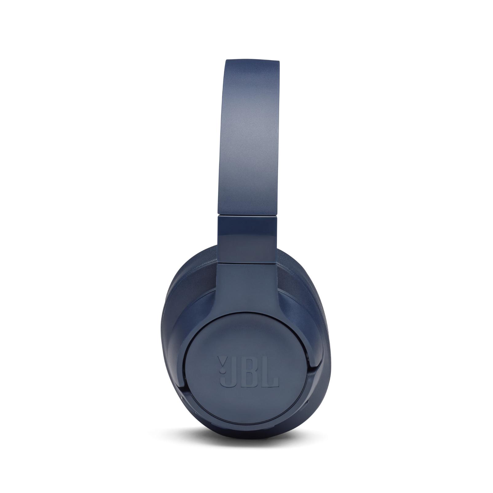 JBL TUNE 750BTNC - Blue - Wireless Over-Ear ANC Headphones - Left