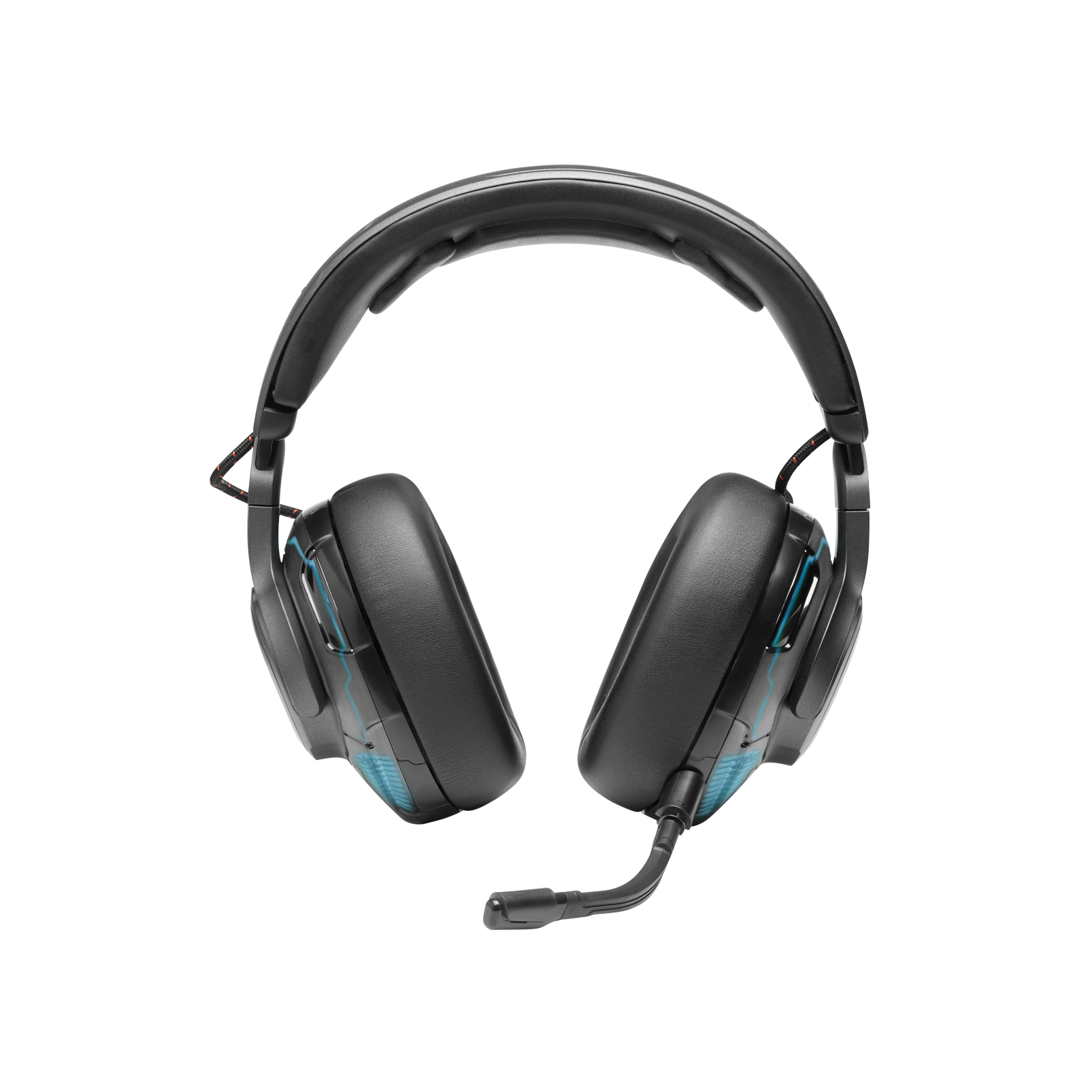 JBL Quantum ONE - Black - USB wired over-ear professional gaming headset with head-tracking enhanced JBL QuantumSPHERE 360 - Front