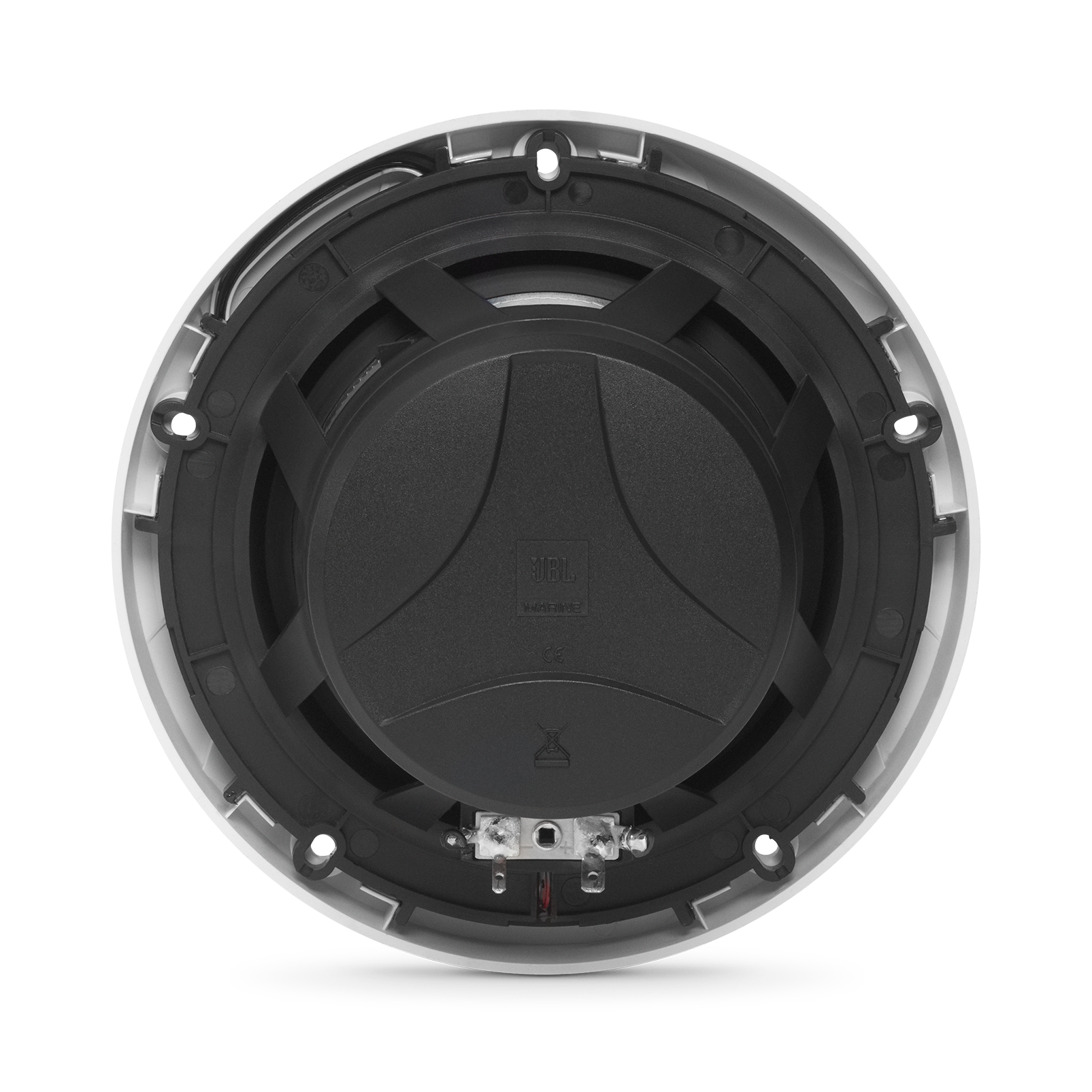 "Club Marine MS65LW - White Gloss - Club Marine MS65LW—6-1/2"" (160mm) two-way marine audio multi-element speaker with RGB lighting – White - Back"