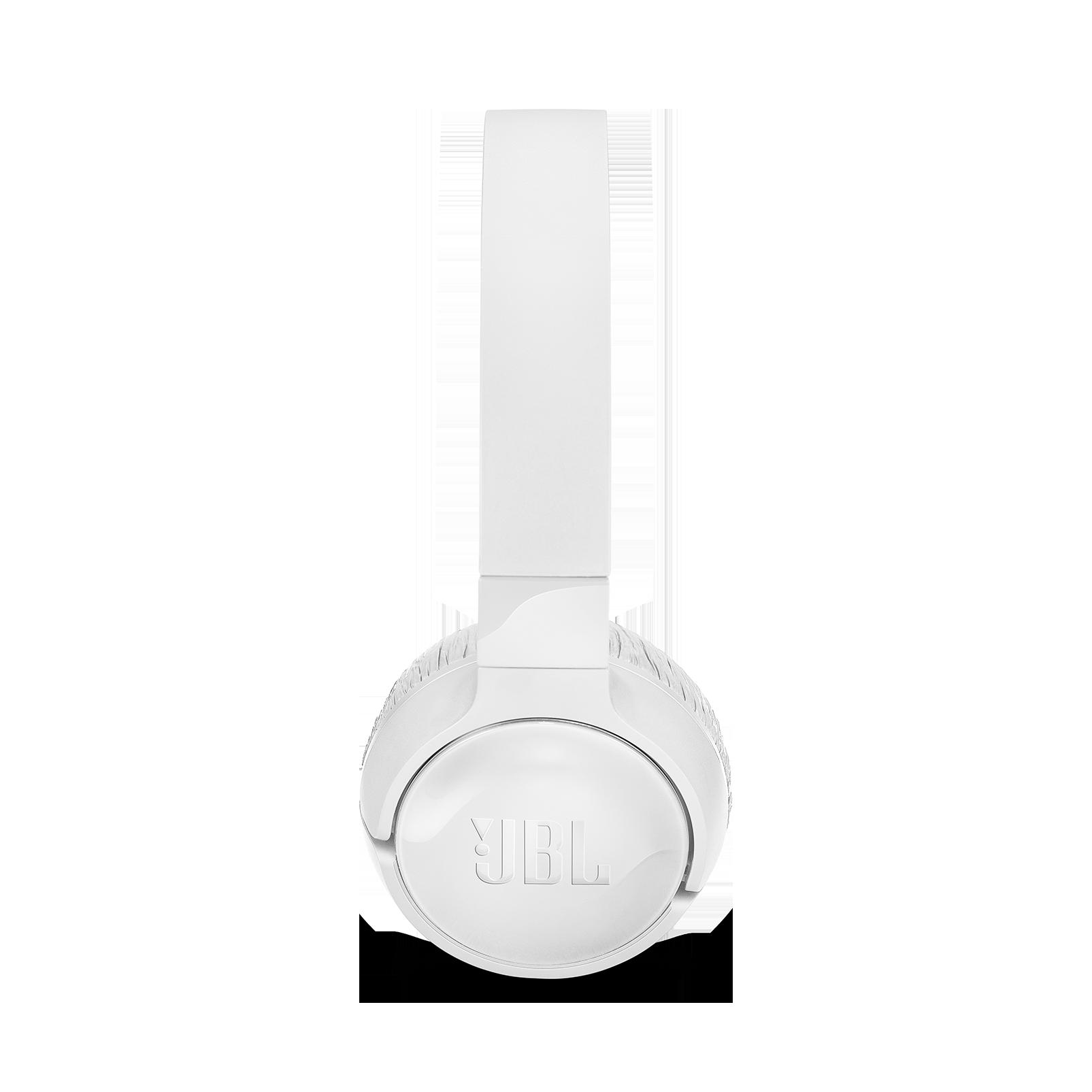 JBL TUNE 600BTNC - White - Wireless, on-ear, active noise-cancelling headphones. - Left